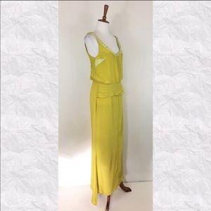 Vera Cava 100% Silk bright yellow gown